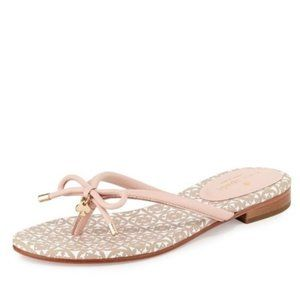 KATE SPADE Mystic Pink Flip Flops with Bows 7.5